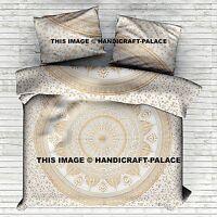 Indian Gold Ombre Duvet Doona Cover Comforter Mandala King Size Quilt Cover Set