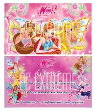 Biglietti - Inviti Compleanno personalizzati WINX 30 Pz