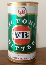 VB. Victoria Bitter 740ml.Straight Steel. Beer Can.