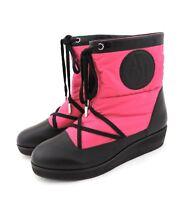 Armani Jeans Stiefeletten 40 Stiefel Boots in pink schwarz wie neu Winterstiefel
