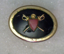 Antique KREISLER 12k Yellow Gold GF Oval Sword Shield Single Cufflink #N526
