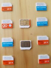 Lot Of 10 At&T Nano Prepaid Sim Cards New Good For Activation