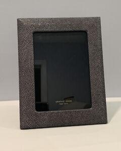 Graphic Image 5x7 Photo Frame With Stingray Leather Surround Black Leather Back