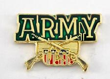 US Army crossing Rifles USA Flag Lapel Hat Pin Military PPM805