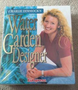 CHARLIE DIMMOCK'S WATER GARDEN DESIGNER - PC CD 1999 EUROPRESS BIG BOX - NEW NOS