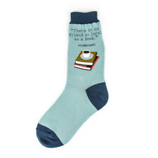 Foot Traffic Nothing As Loyal As A Friend as a Book Cotton Blend Crew Socks New