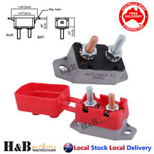 15A AMP 12V Circuit Breaker & Cover Dual Battery Fuse Automatic Auto Reset C0151