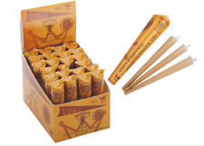 24 X Pack 72 Cones 110MM Hornet Brown 100% Natural Rolling Cone Paper Cigarette