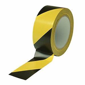 Bodenmarkierungsband Klebeband PVC Warnklebeband Schwarz Gelb bitte Abstand 50mm