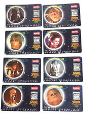 1996 British Star Wars Tazos Force Card Set of 8- Complete Chase Set- FREE S&H