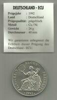 Germany / Deutschland 1 ECU 1992, Einigkeit - Recht - Freiheit