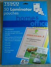 Tesco - 50 Laminator Pouches. New