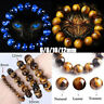 6-12mm Crystal Tiger Eye Bangle Healing Stretch Beaded Charm Bracelet Jewelry-RO