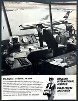 1966 PIA Pakistan International Airlines Stewardess photo ATC vintage print ad