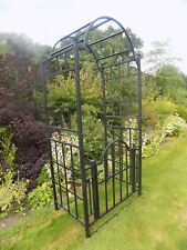 Heavy Duty Metal Garden Arch with Gate - Arch and Gate - Arched Gateway