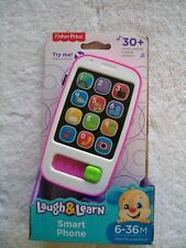 BNIP Baby's Fisher Price Laugh & Learn Pink & White Smart Phone 6-36 Months