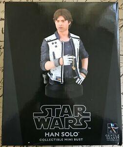 Star Wars Gentle Giant Han Solo Mini Bust 077/450 Solo A Star Wars Story