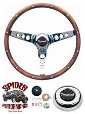"""1970-1972 Roadrunner Satellite Fury steering wheel 13 1/2"""" WALNUT Grant"""