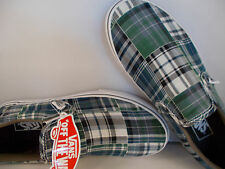 VANS Classic Slip-Ons Plaid Patchwork Blue/Green Shoes Men's Size 9 New In Box