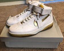 VNDS 2008 Nike Air Force 25 Basketball Sneaker Shoe Sz 10 White/Metallic Gold