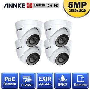 ANNKE HD Video C500 5MP Turret Security POE IP Camera Alert IP67 Surveillance