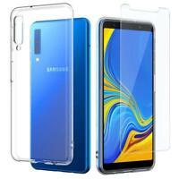 Hülle Für Samsung A7 2018 Schutz Handyhülle Case Cover Klar + Display Glas 9H