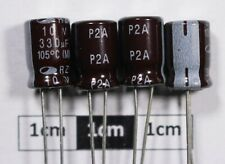 Samwha RZ Radial Electrolytic Capacitor 330μF 10V 105°C (Pack of 4)