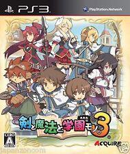 Used PS3 Ken to Mahou to Gakuen Mono. 3 SONY PLAYSTATION 3 JAPAN JAPANESE IMPORT