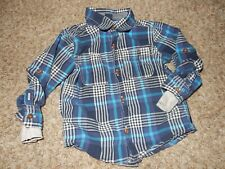 3T Baby Gap Thermal Lined Plaid Long Sleeve Button Up Dress Shirt