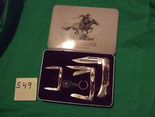winchester 2003 limited edition set of 3 folding knives in tin NOS