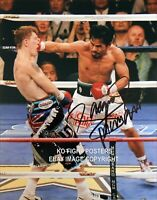 MANNY PACQUIAO Signed 10in x 8in 'BOOM 2' Team Pac Cert - HATTON