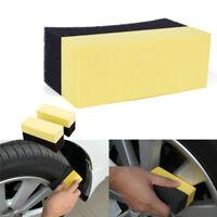 Auto Wheels Brush Sponge Tools Applicator Tire Hub Cleaning Waxing Polishing №[