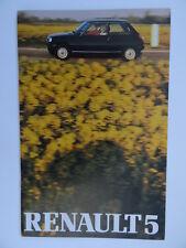 Renault 5 brochure 1980/1981 - Gordini,TS, Automatic, GTL, TL, Base 850cc.