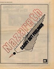 Nazareth Carry Out Feelings UK '45 advert 1976 TRANSPARENT