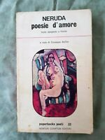 LIBRO BOOK PABLO NERUDA POESIE D'AMORE TESTO SPAGNOLO A FRONTE GAT2