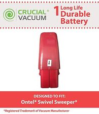 Replacement Red Ontel Swivel Sweeper 7.2V NiMH Vacuum Battery Part # RU-RBG