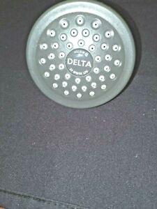 DELTA  CHROME SHOWER HEAD SINGLE FUNCTION 2 5/8 WIDE CHROME FINISH NEW