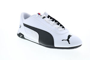 Puma Bmw Mms R-Cat 33993302 Mens White Motorsport Inspired Sneakers Shoes
