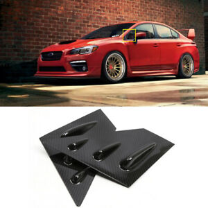 for Subaru WRX STi 2015-2019 Window Scoop Louvers Cover Trim Carbon Fiber Print