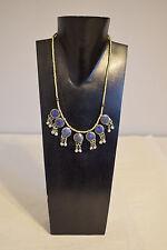 Necklace Blue Lapis Middle Eastern Kuchi Pendant Bells Round Necklace