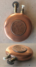 WWI ANTIQUE FRENCH PATRIOTIC BRASS PETROL CIGARETTE LIGHTER / FUNCTIONAL