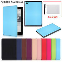 New Magnetic Auto Sleep Leather Cover Case for KOBO Arua Edition 2 eReader 6inch