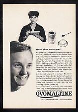 3w508/ Alte Reklame - von 1958 - OVOMALTINE