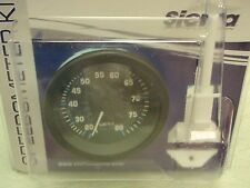 """SPEEDOMETER 80 MPH ECLIPSE SERIES 3"""" 68397P KIT INCLUDES PITOT AND TUBE TELEFLEX"""