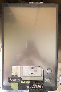 "Quartet White Magnetic Dry-Erase Board, 11"" x 17"""