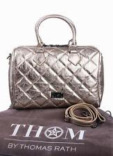 THOM by Thomas Rath Bowling Bag Designer Henkeltasche echt Leder Steppung bronze