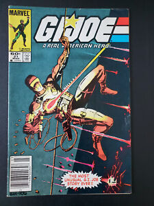 GI Joe 21 1st appearance of Storm Shadow in classic 'Silent Issue' Newsstand