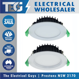 TRADELIKE 13W LED Downlight Dimmable Flush Recessed White Frame Tri Colour CCT