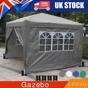 Outdoor Heavy 3*3M Gazebo Garden Party Tent With Sides Canopy Marquee w/Windows