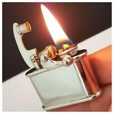 Briquet essence * COLIBRI KICKSTART * Vintage Petrol-Lighter-Feuerzeug-Accendino